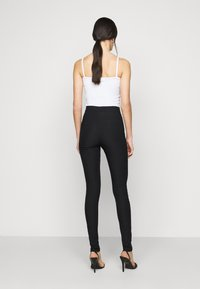 Noisy May Tall - NMSOLINE SOLID PANTS  - Kalhoty - black - 2