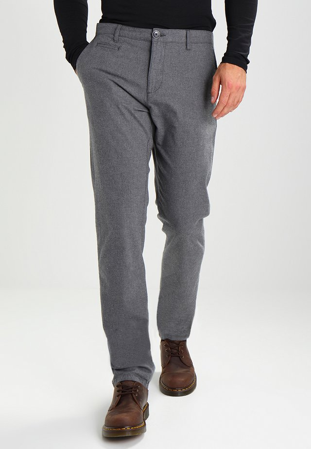 CHUCK THE BRAIN - Pantalon classique - dark grey melange