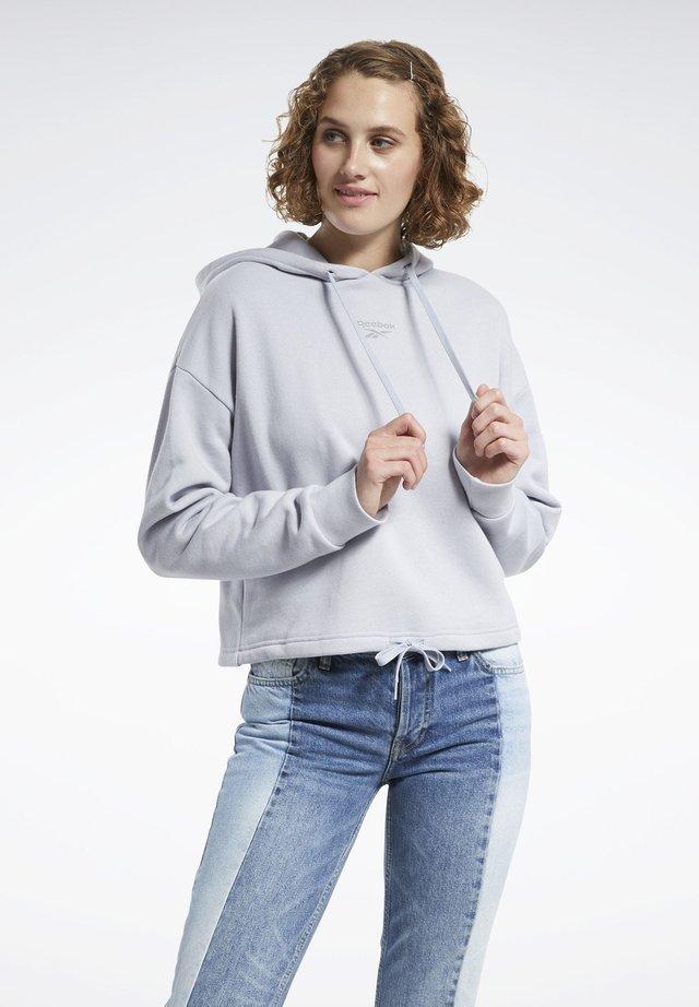 CLASSICS SMALL LOGO HOODIE - Bluza z kapturem - grey