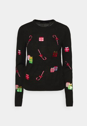VMCHRISTMASPATCH O NECK - Strikpullover /Striktrøjer - black