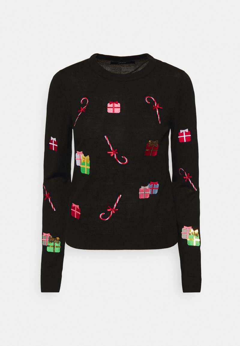 Vero Moda - VMCHRISTMASPATCH O NECK - Jumper - black