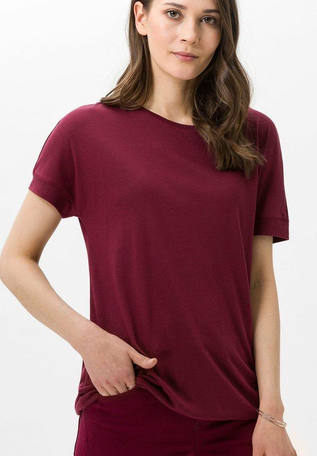 T-shirt basic - raisin