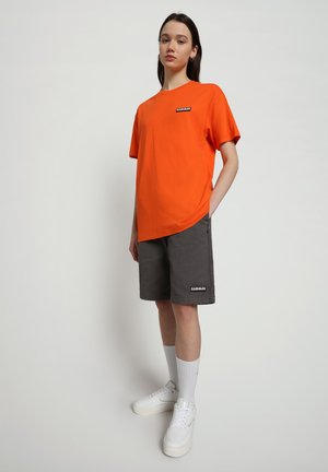 S-PATCH SS - Basic T-shirt - orangeade