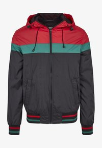 Urban Classics - HOODED COLLEGE WINDBREAKER - Summer jacket - navy/white/fire red - 3