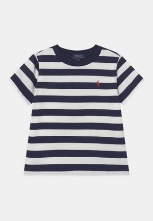 Print T-shirt - white/french navy