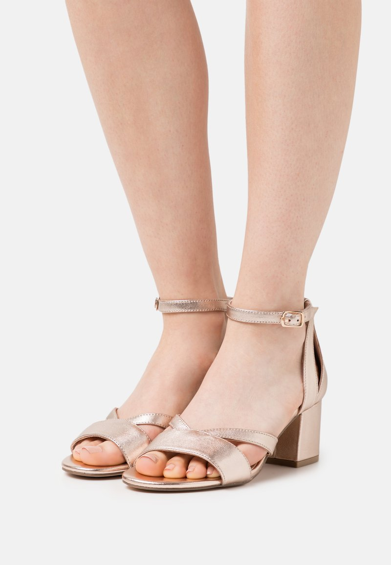 Anna Field Wide Fit - LEATHER - Sandały - rose gold