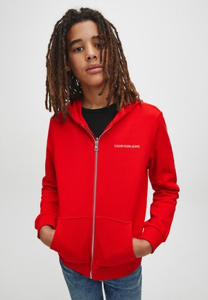 Zip-up hoodie - fierce red