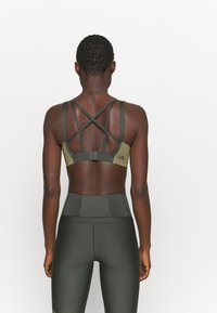 adidas Performance - ALPHA BRA - High support sports bra - olive - 2