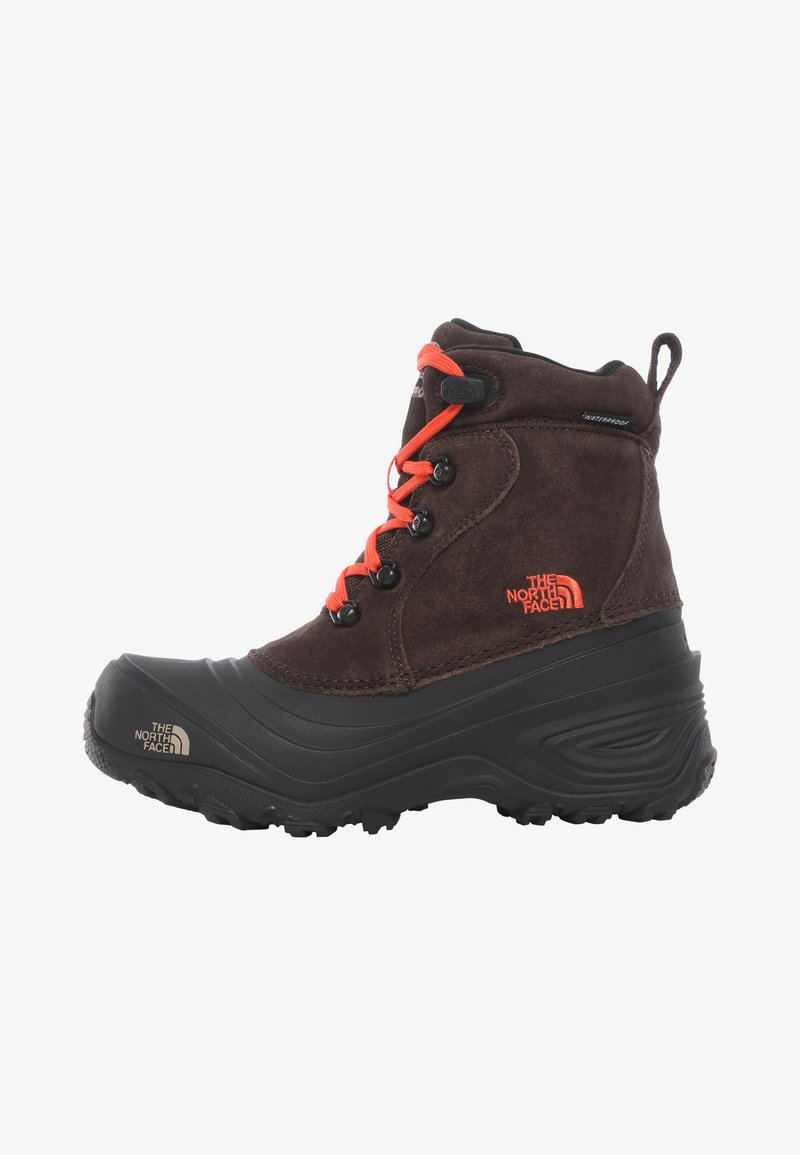 The North Face - Y CHILKAT LACE II - Śniegowce - coffee brown/flare