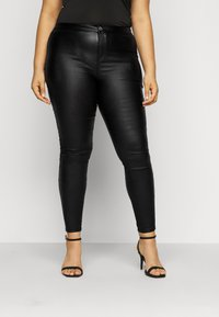 Missguided Plus - PLUS VICE COATED SKINNY  - Skinny džíny - black - 0