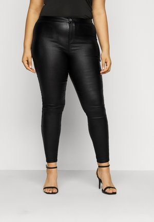 PLUS VICE COATED SKINNY  - Skinny džíny - black