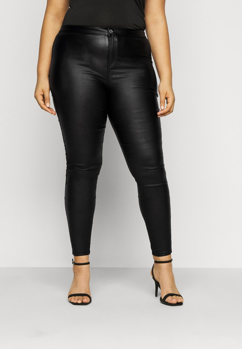 Missguided Plus - PLUS VICE COATED SKINNY  - Skinny džíny - black