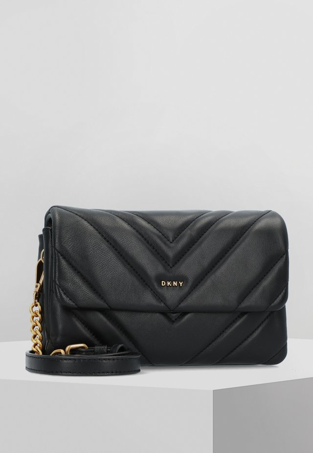 VIVIAN  - Across body bag - black/gold