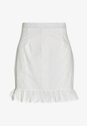 POPLIN CROCHET TRIM MINI SKIRT - Miniskjørt - white