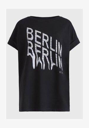 BERLIN IMOGEN BOY TE - Print T-shirt - black