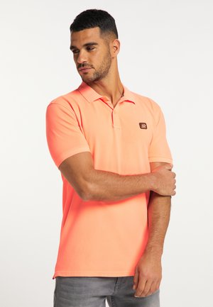 Polo shirt - fiery coral