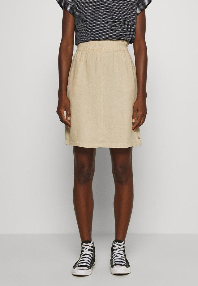 KURZ - A-snit nederdel/ A-formede nederdele - brown