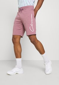 CLOSURE London - SCRIPT 2 PACK  - Spodnie treningowe - greymarl/rose - 1