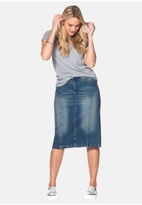 Sheego - Denim skirt - blue denim