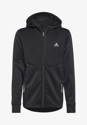 AEROREADY FULL-ZIP HOODIE - veste en sweat zippée - black