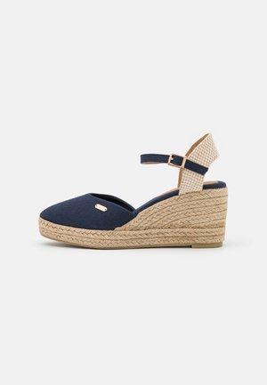 VERA WEDGE - Platform sandals - dark blue