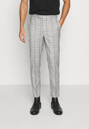 LARGE GRID CHECK TROUSER SKINNY - Pantalon - mid grey