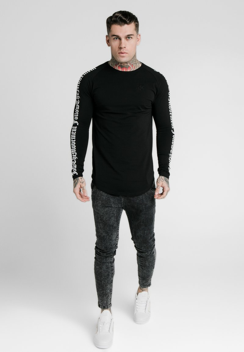 SIKSILK - LONG SLEEVE FOLLOW THE MOVEMENT TEE - Maglietta a manica lunga - black
