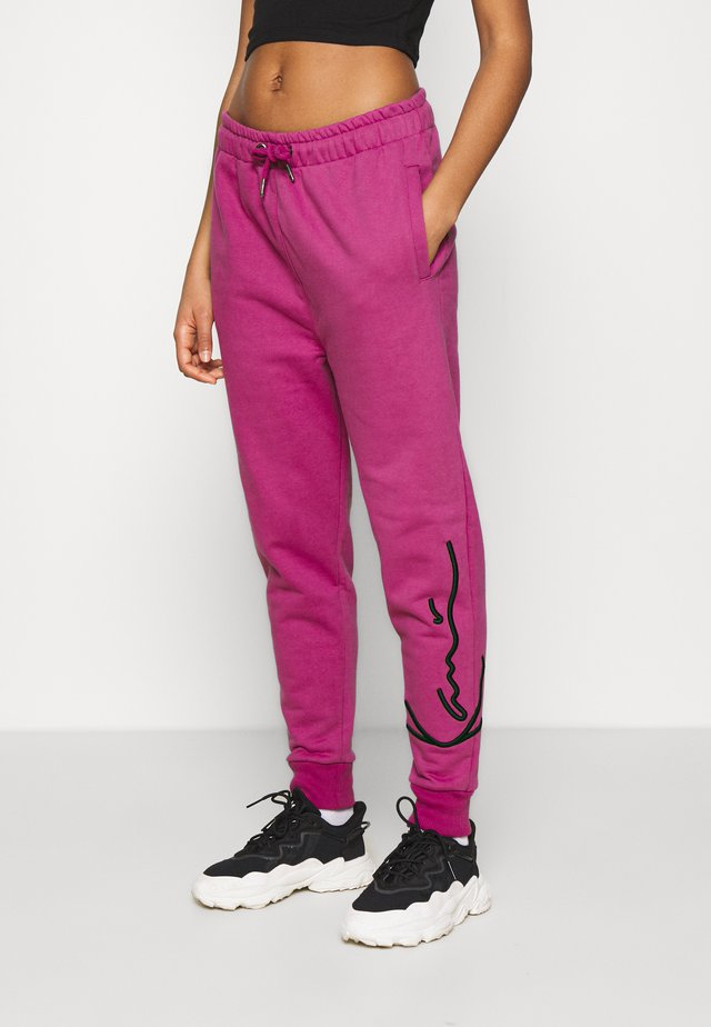 SIGNATURE  - Pantaloni sportivi - darkpink