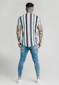 SIKSILK - STRIPE TEE - Print T-shirt - white/navy/green - 2
