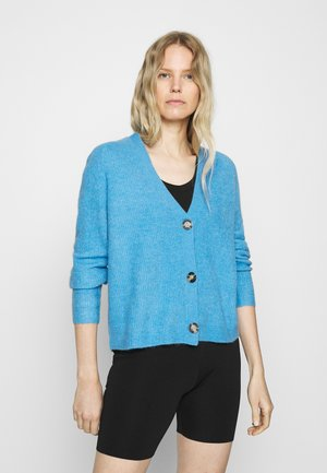 CARDIGAN LONGSLEEVE SADDLE SHOULDER BUTTON CLOSURE - Cardigan - northern sky