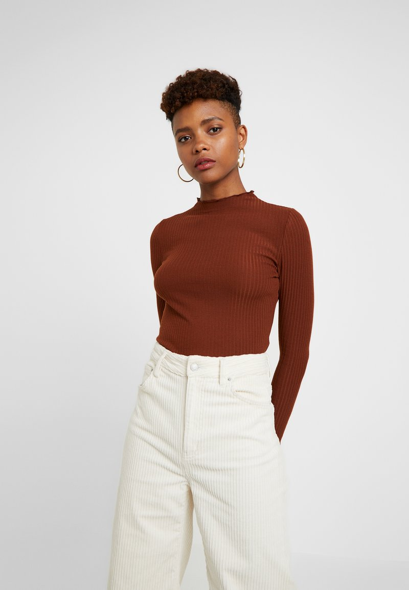 ONLY - ONLEMMA HIGH NECK - Long sleeved top - cherry mahogany