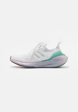 ULTRABOOST 21 UNISEX - Sports shoes - crystal white/hazy green