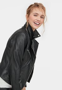 Stradivarius - Leather jacket - black - 3