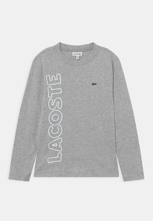 TEE TURTLE NECK SIDE LOGO - T-shirt à manches longues - silver chine