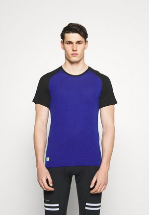 TEMPLE TECH  - T-Shirt basic - ultra blue/black