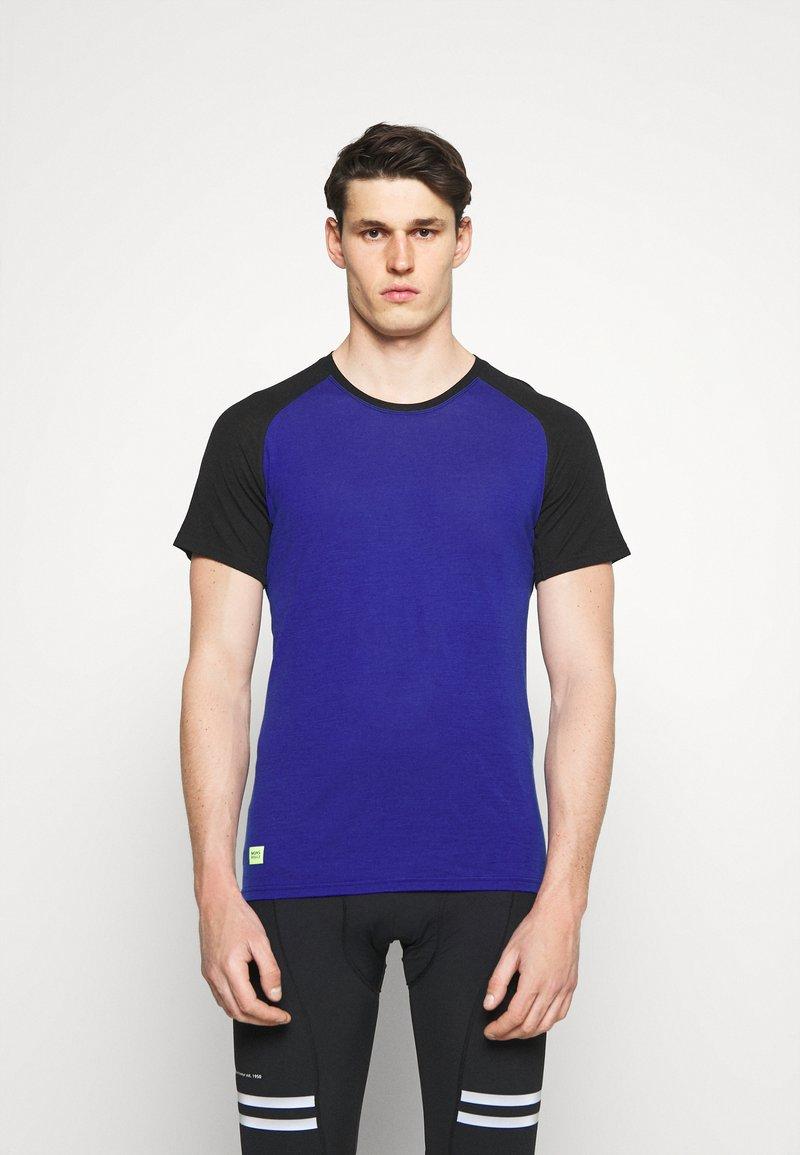 Mons Royale - TEMPLE TECH  - Jednoduché triko - ultra blue/black