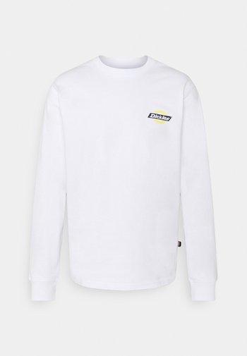 RUSTON TEE - Long sleeved top - white