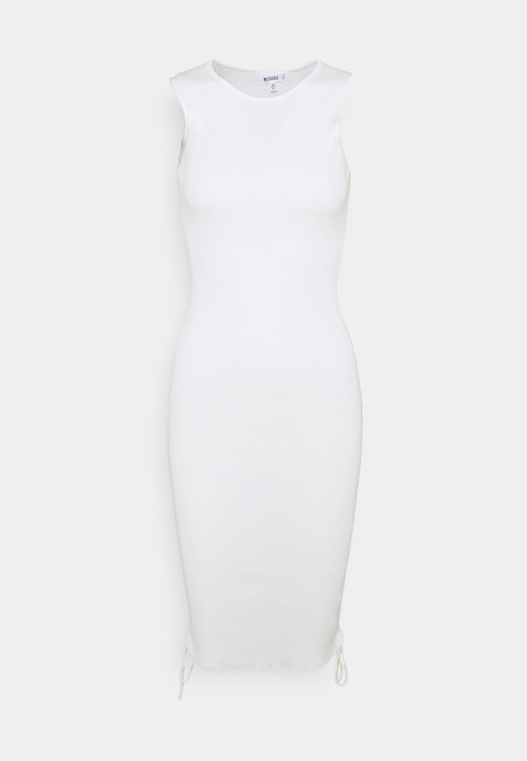Femme SLEEVELESS RUCHED SIDE RIBBED DRESS - Robe pull