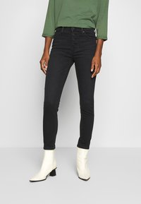 Marc O'Polo DENIM - KAJ CROPPED - Jeans Skinny Fit - black stretch wash - 0