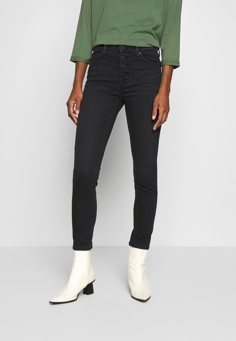 Marc O'Polo DENIM - KAJ CROPPED - Jeans Skinny Fit - black stretch wash