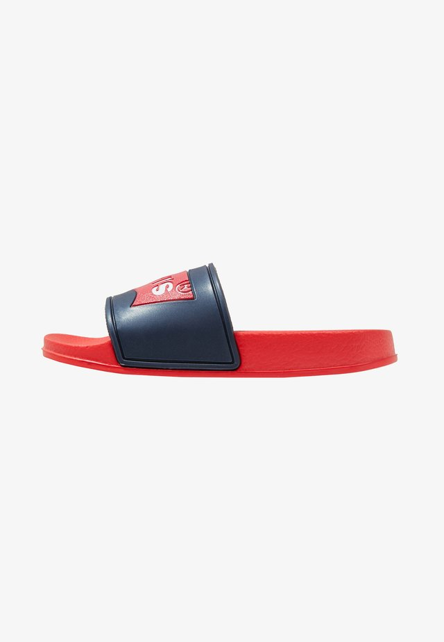 POOL 02 - Sandales de bain - red/navy