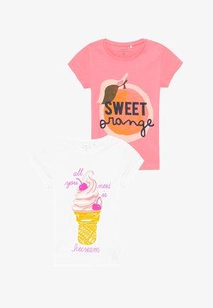 NKFVEEN 2 PACK - T-shirt print - geranium pink