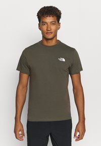 The North Face - MENS SIMPLE DOME TEE - T-shirt basic - new taupe green - 0