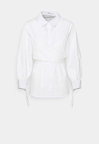 TIE WRAP DETAIL - Blouse - white