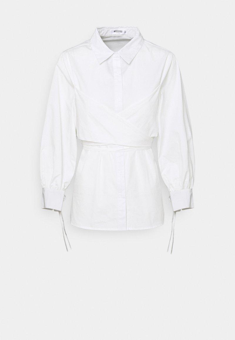 Missguided Petite - TIE WRAP DETAIL - Blouse - white