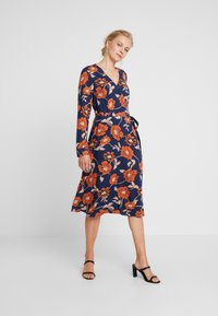 edc by Esprit - WRAP DRESS - Day dress - navy - 0