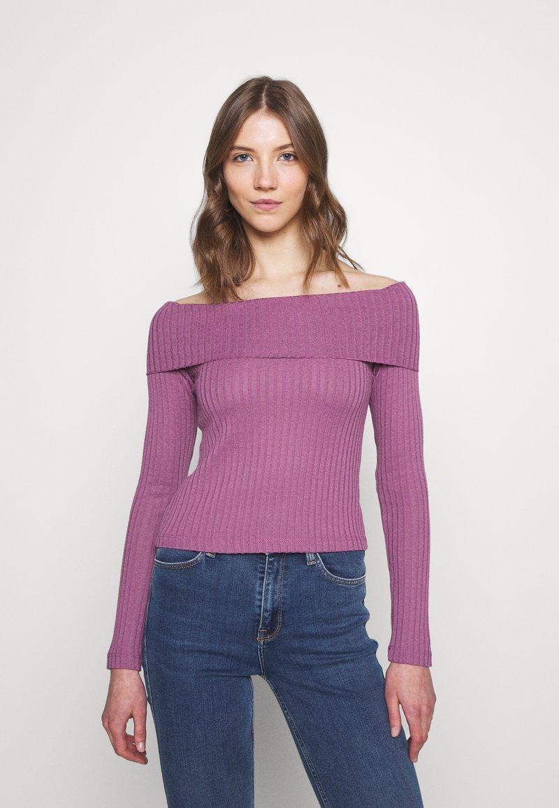 NA-KD - LONG SLEEVE OVERLAP - Long sleeved top - lilac