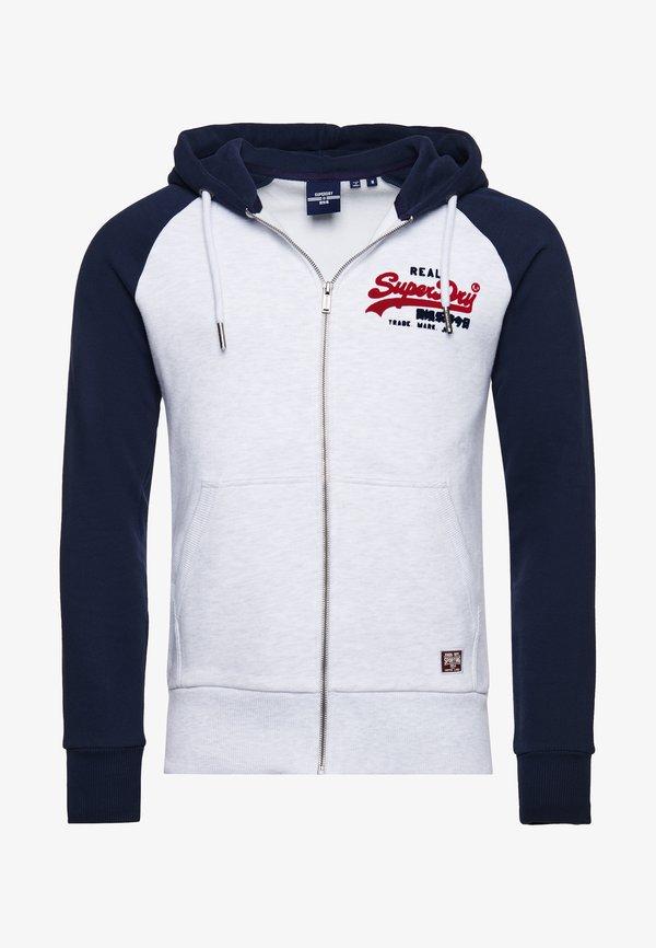 Superdry Bluza rozpinana - ice white/biały Odzież Męska IHPA