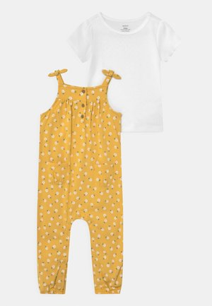 DOT SET - Print T-shirt - yellow