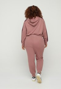 Active by Zizzi - Tracksuit bottoms - rose taupe melange - 1